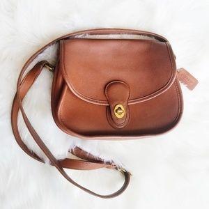Coach | Vintage Brown Leather Crossbody Bag